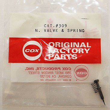 309-Cox .049 Needle Valve - #309 Black (OEM)